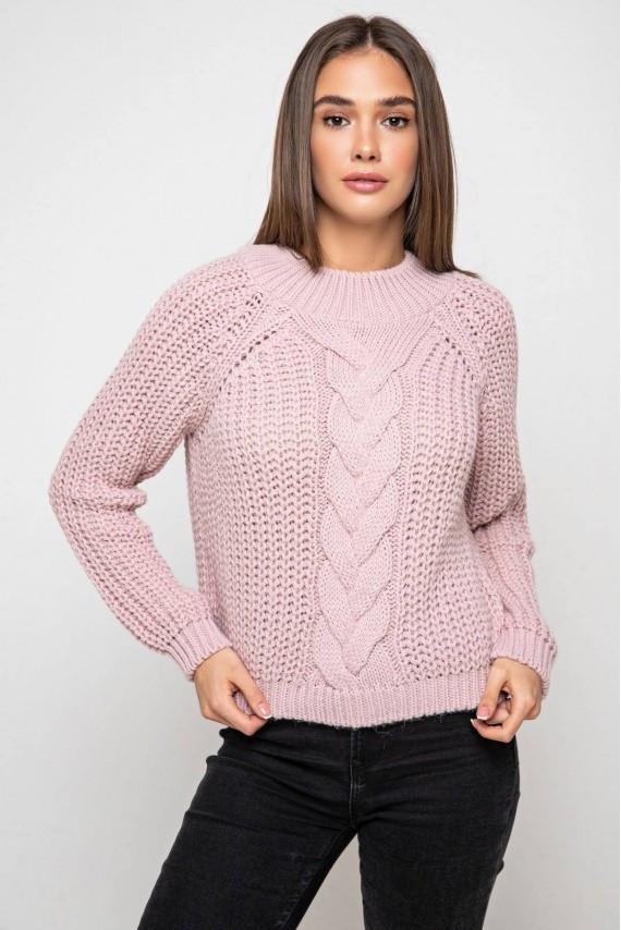 Укореченый свитер крупная вязка 42-48 размеры