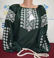 """Шифонова блузка з вишивкою """"Зелені очі"""""""