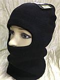Мужская чёрная шапка балаклава подшлемник, фото 2