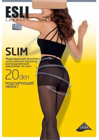 Колготки женские Esli SLIM 20 ден с утяжкою ( аналог Конте Актив 20), размер 2-4, Беларусь