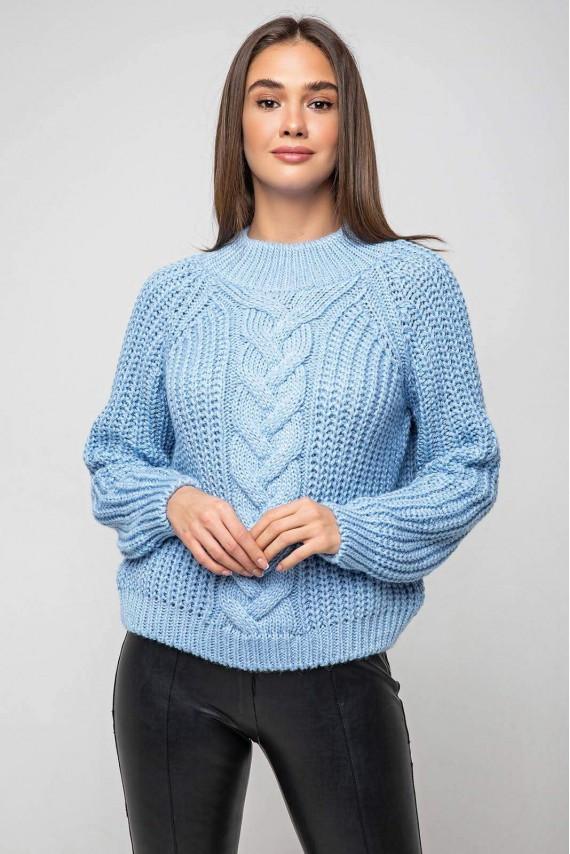 Укореченый светр велика в'язка 42-48 розміри