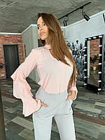 Блуза женская с воланами К 00480 с 02