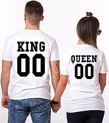 """Парные именные футболки """"KING/QUEEN"""" [Цифры можно менять] (50-100% предоплата)"""