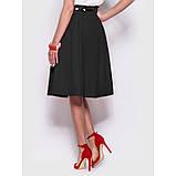 Стильная юбка длиной миди с удобными карманами по бокам, фото 3