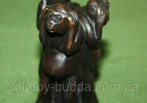 Три обезьяны бронза