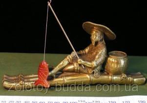 Фу Си ловит рыбу бронза