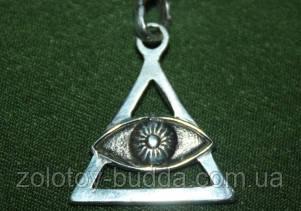 Амулет Божье око серебро
