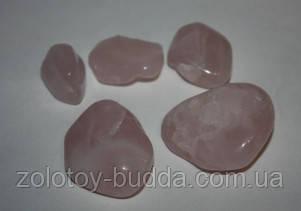Розовый кварц средняя галтовка