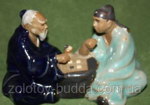 Мудрецы играющие в игру Го керамика
