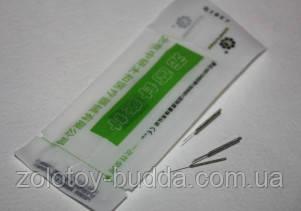 Голки для акупунктури 0,16*7 мм - 10 голок. Zhongyan Taihe