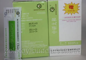 Иглы для акупунктуры, рефлексотерапии 0,30*40 мм 500шт. ZHONGYAN TAINE