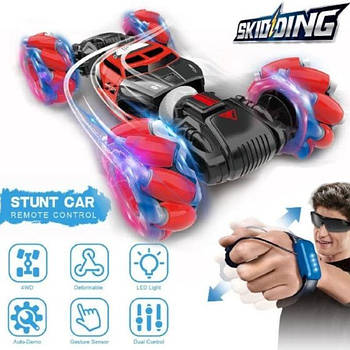 [ОПТ] Трюкова Машинка всюдихід трансформер перевертиш Skidding для трюків з управлінням жестами і пультом ДУ