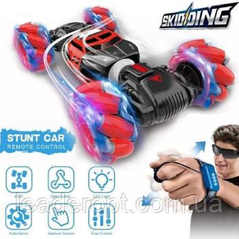 [ОПТ] Трюковая Машинка вездеход трансформер перевертыш Skidding для трюков с управлением жестами и пультом ДУ