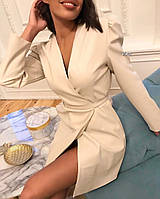 Платье женское  из эко кожи . Цвета: молочный, карамель, чёрный