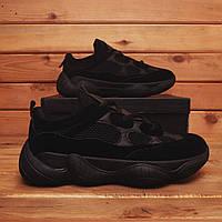 Мужские кроссовки Adidas Yeezy Boost 500 (Реплика), черные