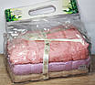 Лицевые бамбуковые турецкие полотенца 3ка Фиолет, фото 3