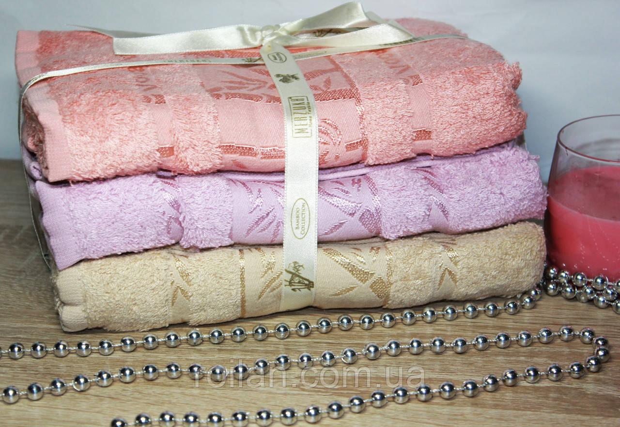Лицевые бамбуковые турецкие полотенца 3ка Фиолет