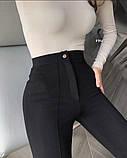 Брюки женские облегающие, чёрные , белые, фото 5