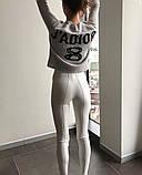 Брюки женские облегающие, чёрные , белые, фото 6