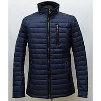 Красивая мужская куртка воротник стойка синего цвета от производителя