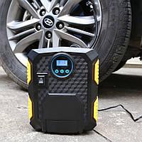Автомобильный компрессор Air Compressor с цифровым манометром и фонариком