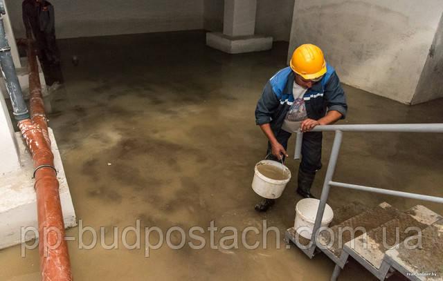 вода стоит подвале дома что делать