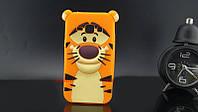 Резиновый 3D чехол для Samsung Galaxy J1 J100h Тигруля, фото 1