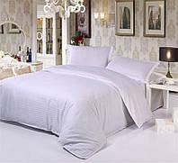 Комплект постельного белья WHITE 1/1см Страйп-сатин