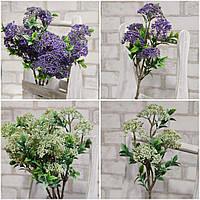 Штучні квіти - букет очітка із пластика, інтер'єрні, Польша, вис. 54 см., 55/45 (ціна за 1 шт. + 10 гр.), фото 1