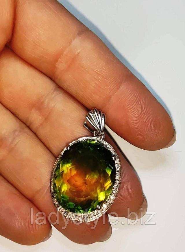 купить серебряный перстень кольцо натуральный аметрин аметист цитрин