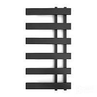 Черный матовый полотенцесушитель GENESIS-AQUA SPLIT 100*53 СМ (Черный, белый. графит), фото 1