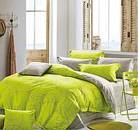 Комплект постельного белья евро на резинке 200*220 хлопок (13097) TM KRISPOL Украина