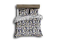 Полуторный комплект постельного белья 150*220 сатин (13585) TM КРИСПОЛ Украина