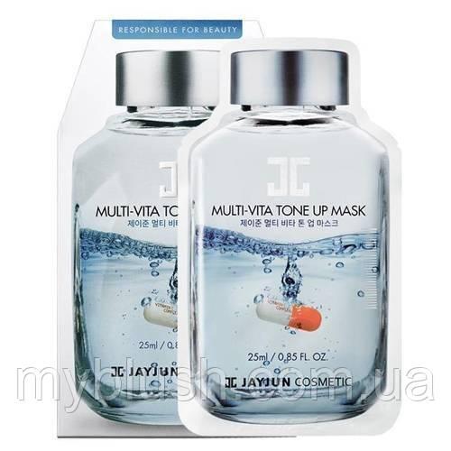 Тканевая маска для лица Jayjun Cosmetic Multi-Vita Tone Up Mask с витаминным комплексом 25 g