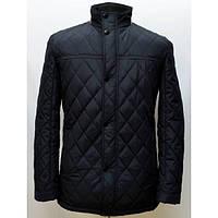 Отличная демисезонная мужская куртка стеганная в темно синем цвете