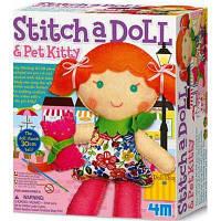 Набор для творчества 4М для шитья Кукла с котенком (00-02766)