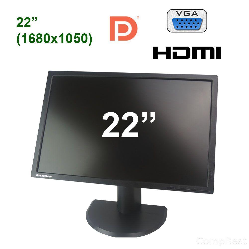 """Lenovo ThinkVision T2254pC / 22"""" (1680x1050) TN LED / VGA, HDMI, DP"""