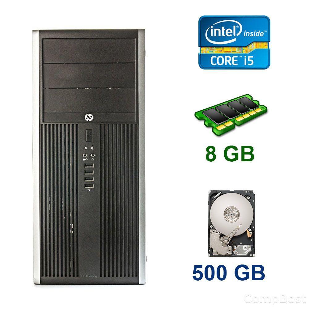 HP Compaq Elite 8300 Tower / Intel Core i5-3570 (4 ядра по 3.4 - 3.8 GHz) / 8 GB DDR3 / 500 GB HDD