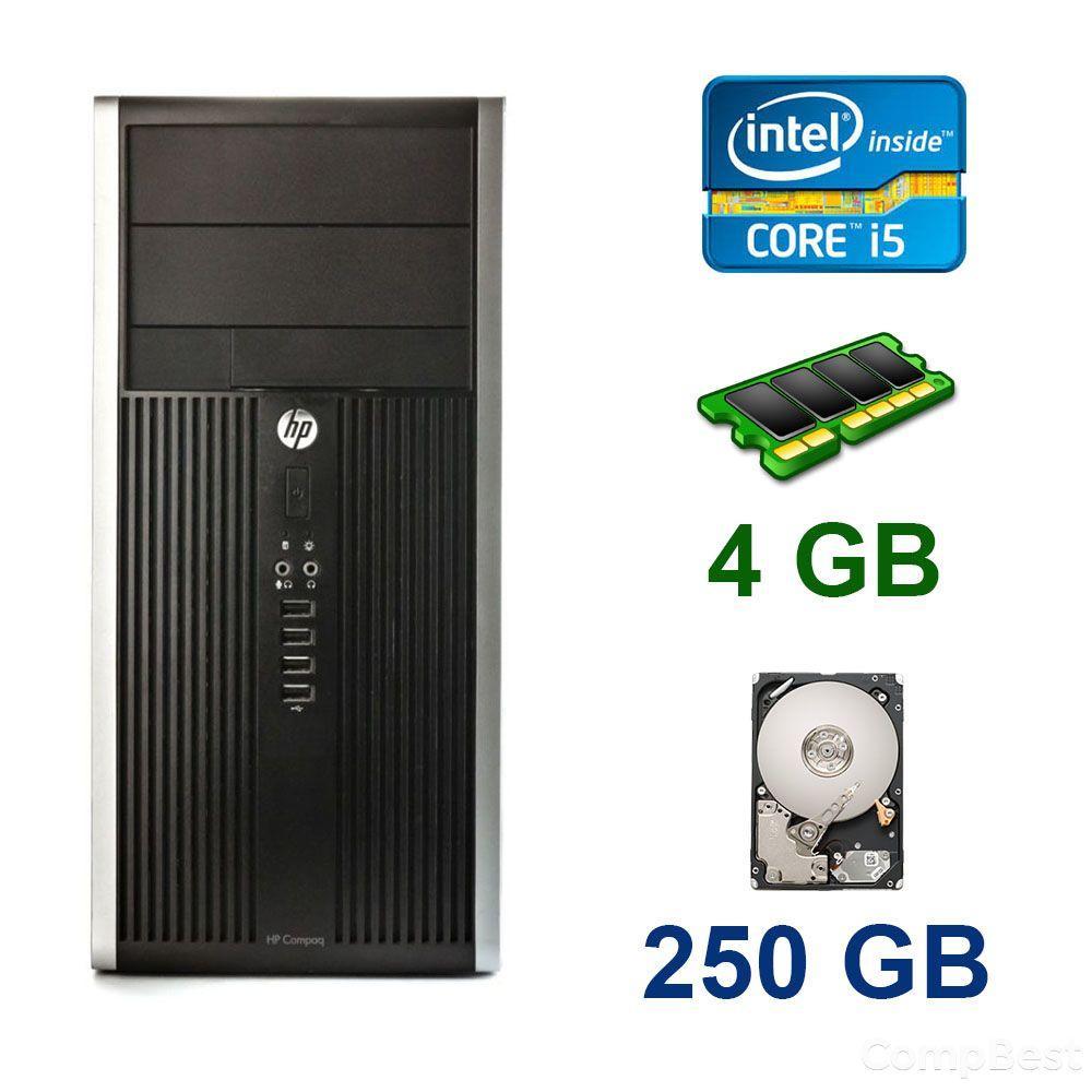 HP Compaq 6200 Pro Tower / Intel Core i5-2400 (4 ядра по 3.1 - 3.4 GHz) / 4 GB DDR3 / 250 GB HDD