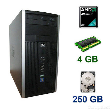 HP Compaq 6005 Pro Tower / AMD Athlon II X2 B22 (2 ядра по 2.8 GHz) / 4 GB DDR3 / 250 GB HDD, фото 2