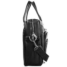 Кожаная мужская сумка с карманом для ноутбука  VITO TORELLI (ВИТО ТОРЕЛЛИ) VT-6338-black, фото 3