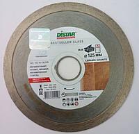 Алмазный диск, для резки керамогранита, Distar Bestseller Ceramic granite 125x1,5x8x22,2 чистый рез нет сколов
