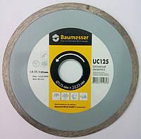 "Алмазный диск, для резки плитки без сколов, Baumesser Universal ceramics 125x1,9x5x22,23  ""Сухорез"""