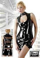 Лаковое мини-платье Кокетка ( S, M, L, XL, XXL)