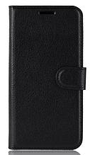 Кожаный чехол-книжка для Xiaomi Mi Mix 3 черный