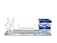 Подставка для ручек и визиток стекло (25,5х8,8х10 см)(SJT108)