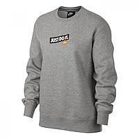 Толстовка Nike Just Do It Fleece Sweatshirt Grey - Оригинал