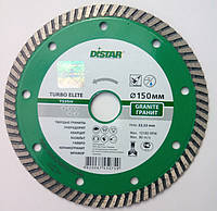 Алмазный диск для резки гранита Distar Elite Turbo 150x2,2x9x22,23