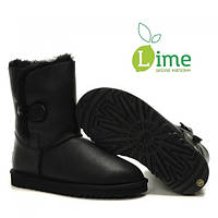 Сапоги зимние UGG Bailey Button Bomber Black