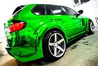 Зеркальная пленка зеленый хром 152 см